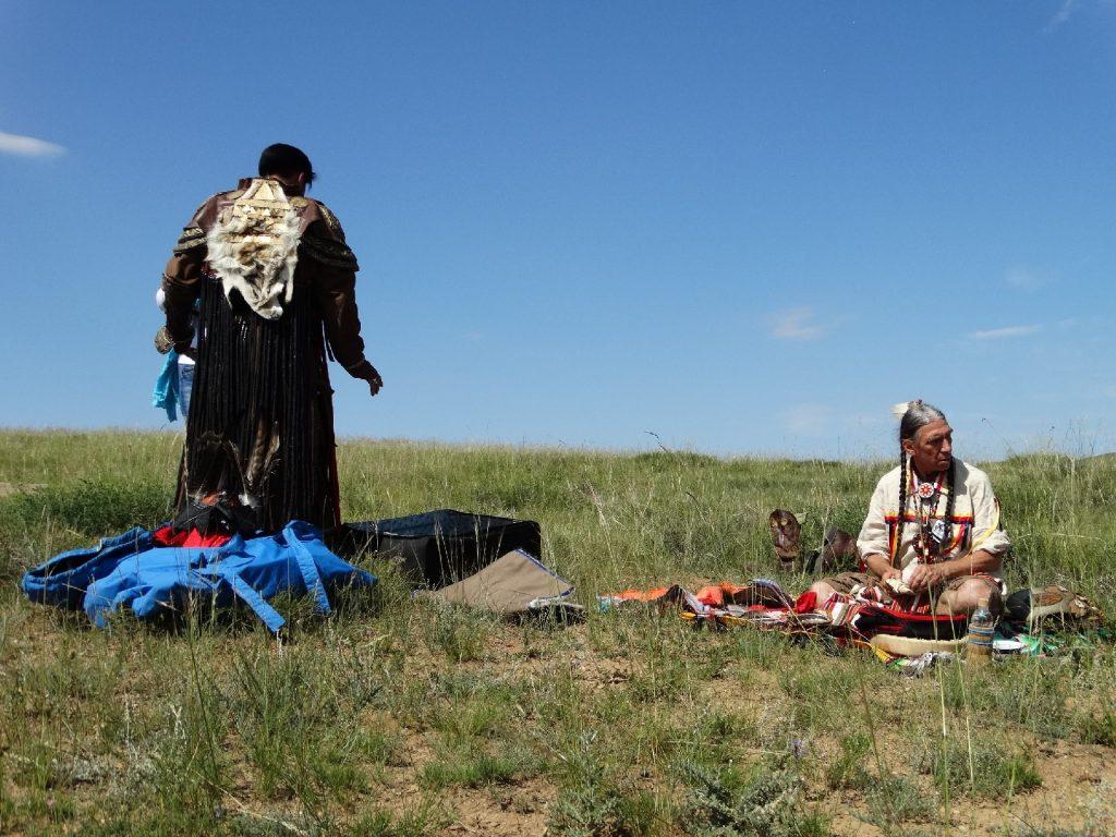 en préparation de la rencontre des ancêtres mongol et amérindien
