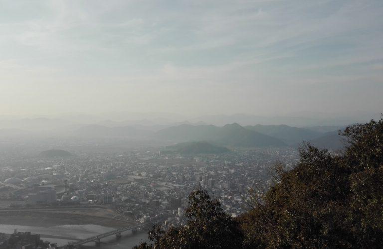 Vu en huat du Mt Kinka